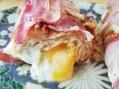 Sandwich de la mort : poitrine fumée, mozzarella, cheddar, bleu de Bresse, baguette de pain - carnage au gras - BouffePorn