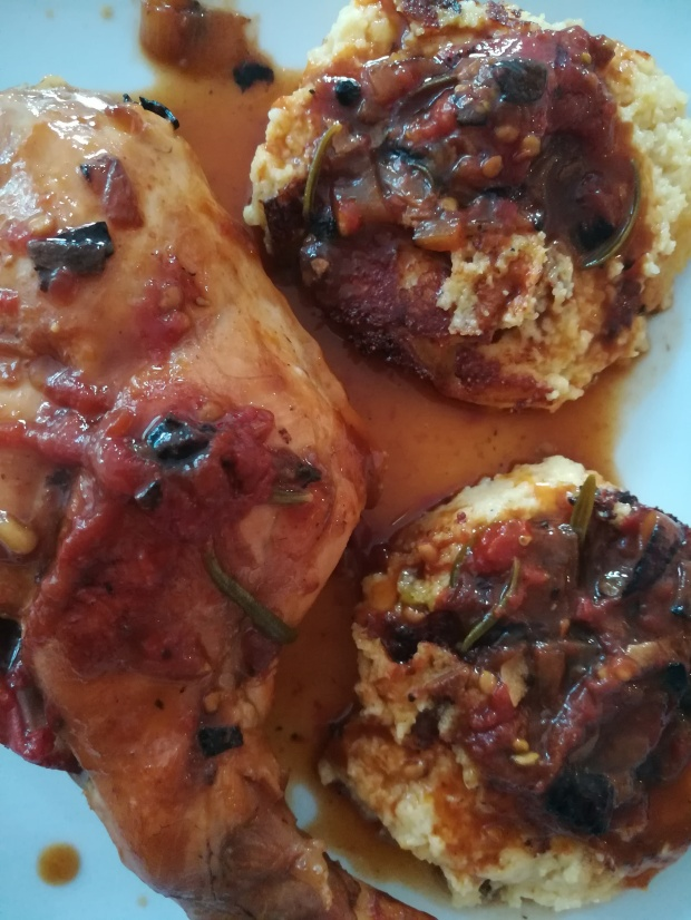 Recette bouffeporn de Gigolette de lapin, quenelles de polenta