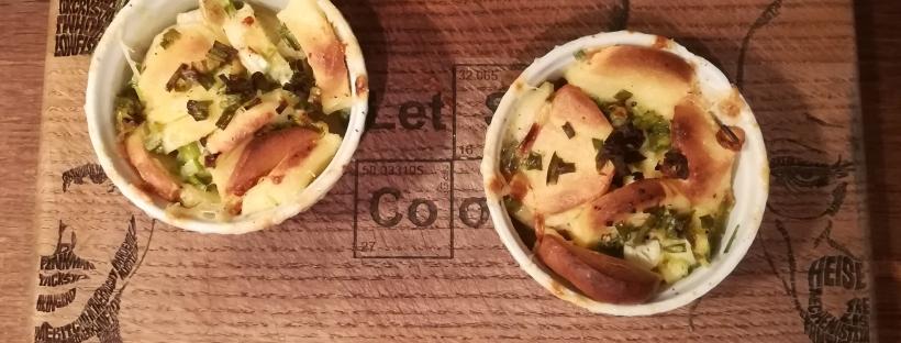 Gratin de quenelles à la ciboule - BouffePorn