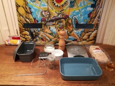Le matériel nécéssaire pour réaliser un foie gras mi-cuit au piment d'Espelette - BouffePorn