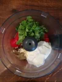 Recette de crème aubergine, poivron, coriandre - BouffePorn