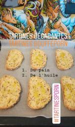Recette de tartine au ravioles, aubergine et poivron - BouffePorn