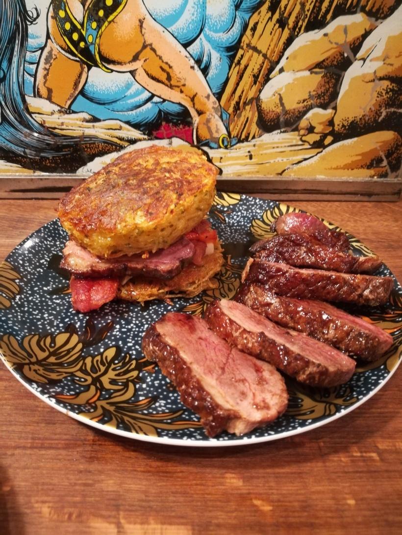 Recette de Potatoes burger au magret de canard par BouffePorn